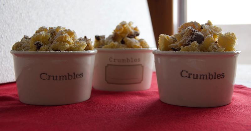 crumble panettone pere cannella